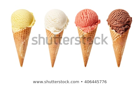 assorted icecream scoops in cones stock photo © unikpix