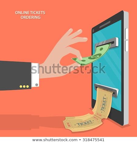 online buying of cinema tickets. Stock photo © curiosity