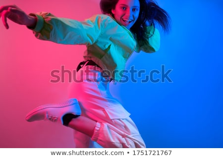 The art photo-emotional dance of beautiful blue woman Stock photo © master1305