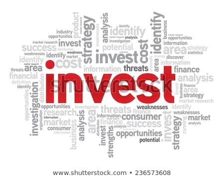 Investimentos palavra ilustração 3d conjunto impresso Foto stock © 72soul