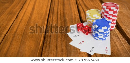 Vue cartes puces blackjack Photo stock © wavebreak_media