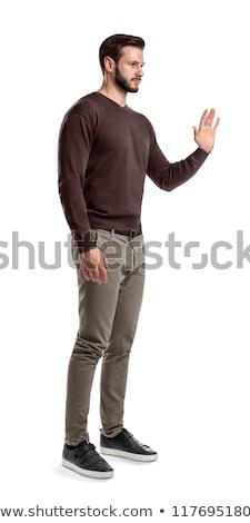 側面図 男 停止 ジェスチャー 立って ストックフォト © wavebreak_media