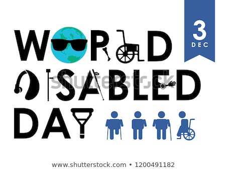 International Day of Persons with Disabilities. disabled at work Stock photo © MaryValery