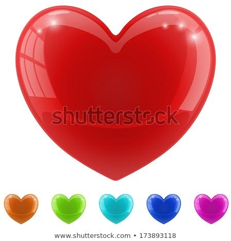 ayarlamak · hacim · kalpler · yalıtılmış · beyaz · sevmek - stok fotoğraf © galyna_tymonko