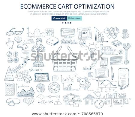 Stockfoto: Ecommerce · winkelwagen · optimalisatie · business · doodle · ontwerp