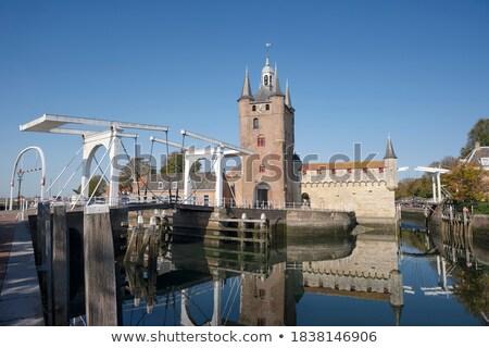 Médiévale porte Pays-Bas maison bâtiment architecture Photo stock © phbcz