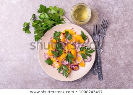 plaat · vers · fruit · salade · Blauw · plaats - stockfoto © digifoodstock