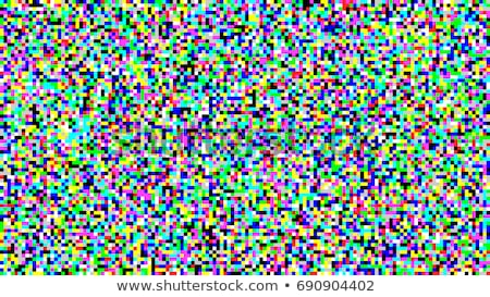 Pixel Noise Vector. VHS Glitch Texture TV Screen. Television Colored Stock photo © pikepicture