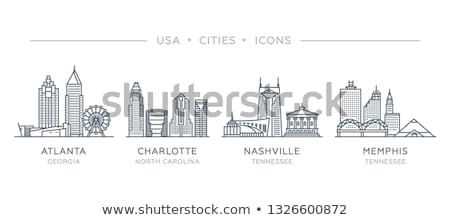 cartoon nashville skyline silhouette stock photo © blamb