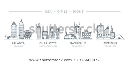 Stockfoto: Cartoon Nashville Skyline Silhouette