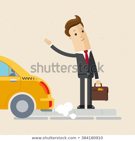 Business man waiting for cab Stock photo © IS2
