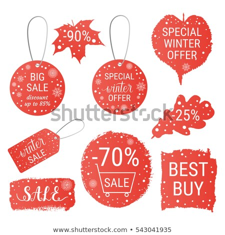 mega christmas sale in red drawn banner Stock photo © marinini
