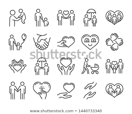 icon of caring for a child Stock photo © Olena