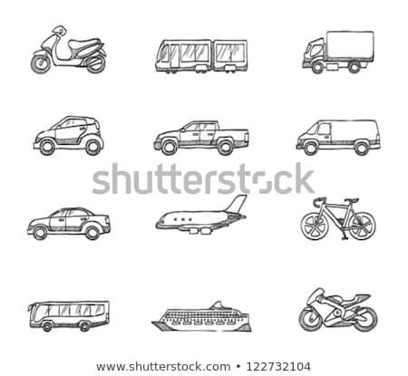 Camion de livraison croquis icône vecteur isolé dessinés à la main Photo stock © RAStudio