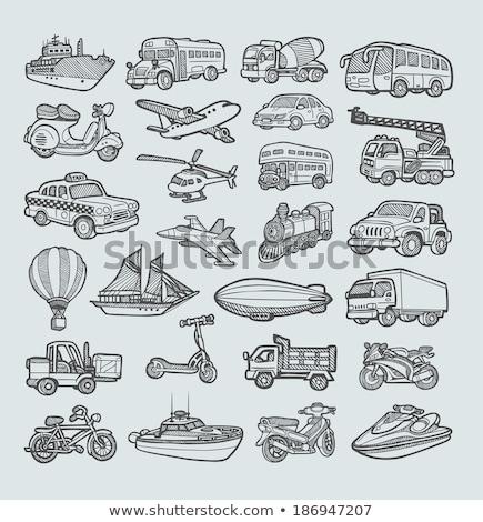 boceto · icono · web · móviles · dibujado · a · mano · vector - foto stock © rastudio