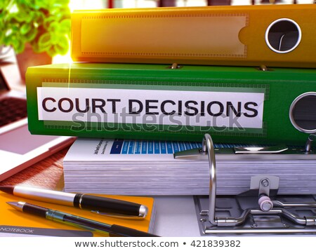 Vert bureau dossier tribunal décisions Photo stock © tashatuvango