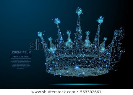Király alacsony 3D terv sakkfigura vektor Stock fotó © psychoshadow