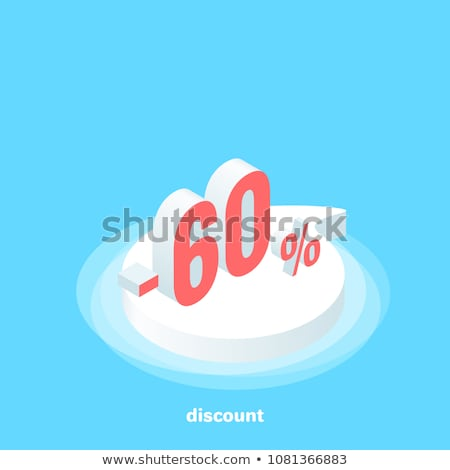 Red minus sixty percent Stock photo © Oakozhan