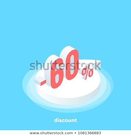 altmış · yüzde · beyaz · yalıtılmış · 3d · illustration · para - stok fotoğraf © oakozhan