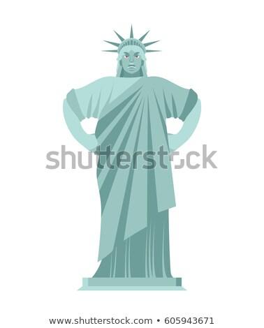 Posąg wolności zły agresywny punkt orientacyjny Ameryki Zdjęcia stock © popaukropa