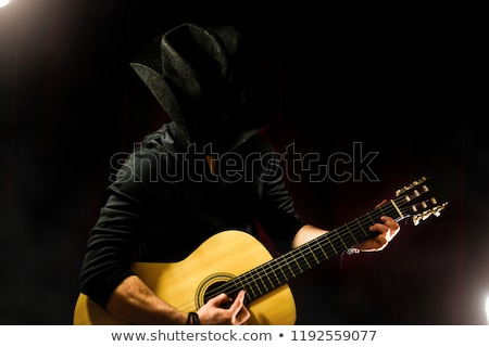 Cowboy jouer guitare pays musique sexy Photo stock © keeweeboy