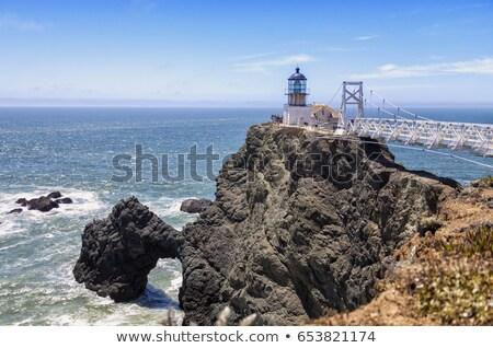 Ponto farol San Francisco entrada paisagem mar Foto stock © davidgn