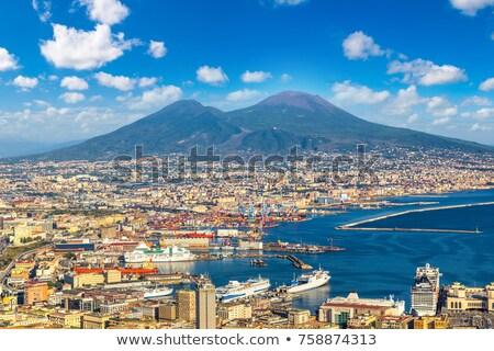 Nápoles · vulcão · Itália · cityscape · pôr · do · sol · paisagem - foto stock © neirfy