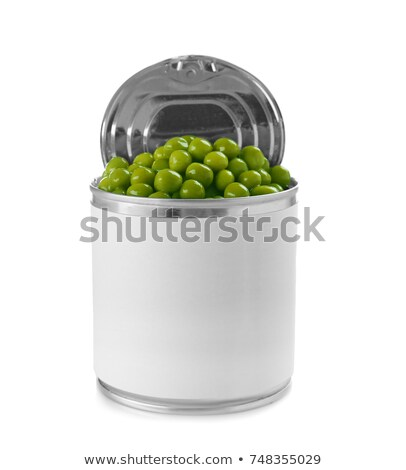 groene · erwten · Open · tin · kan - stockfoto © ssuaphoto