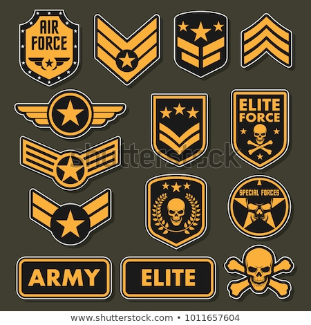Сток-фото: военных · набор · армии · вектора · символ · звезды