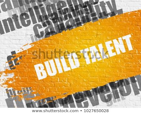épít tehetség fehér téglafal oktatás szolgáltatás Stock fotó © tashatuvango