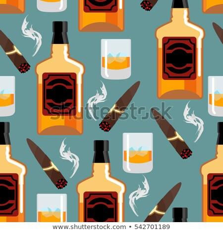 Whiskey ijs gentleman fles textuur Stockfoto © popaukropa