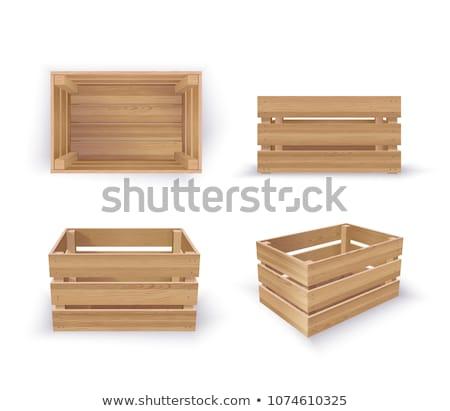 brązowy · wiklina · pusty · róg · obfitości · koszyka · odizolowany - zdjęcia stock © konturvid