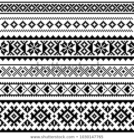 бесшовный вектора шаблон искусства дизайна крест Сток-фото © RedKoala