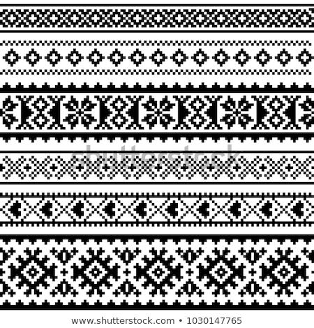 Naadloos vector patroon kunst ontwerp kruis Stockfoto © RedKoala