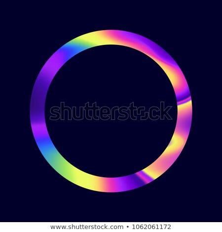 Iridescent Oil Hoop Pattern Stock photo © solarseven