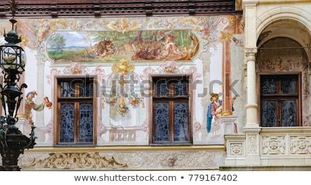 замок рельеф подробность каменной стеной здании каменные Сток-фото © guillermo