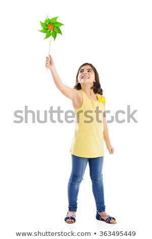 少女 見える おもちゃ 風車 エネルギー ヨーロッパ ストックフォト © IS2