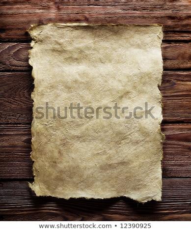Vieux papier manuscrit brun la texture du bois naturelles modèles Photo stock © rufous