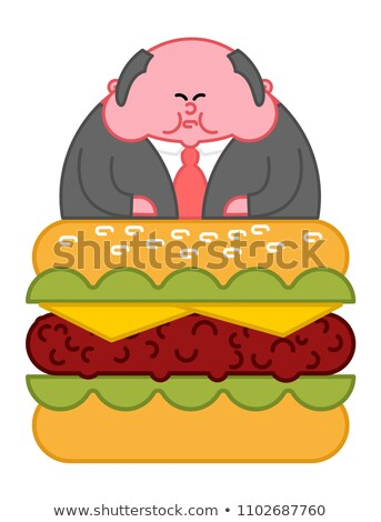 Boss Burger жира директор служба лидера Сток-фото © MaryValery
