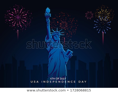 Happy Independence Day of the USA Vector Illustration. Fourth of July Design with Flag and Firework  Stock photo © articular