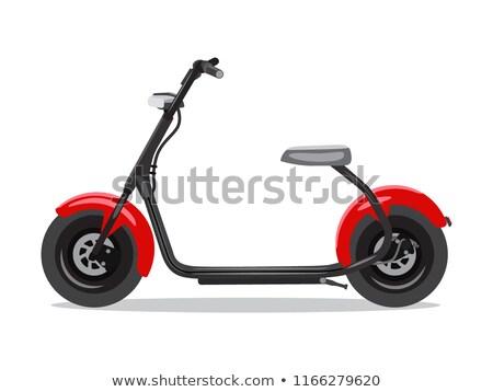 Vector Rood moderne stijl zijaanzicht levering Stockfoto © MarySan