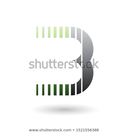 green and black letter b icon with vertical stripes stock photo © cidepix