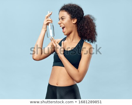 Retrato fitness caucásico mujer chándal Foto stock © deandrobot