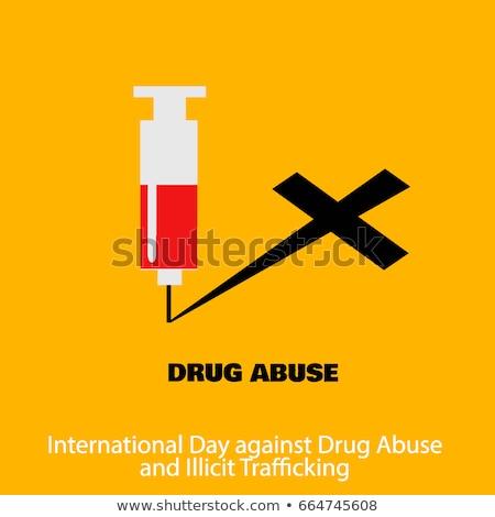 наркотиков злоупотребление международных день 26 предотвращение Сток-фото © robuart