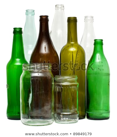 wine glass and bottle isolated on white backdrop stock photo © robuart
