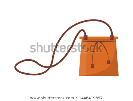 Female Capacious Leather Bag with Long Thin Strap Stock photo © robuart