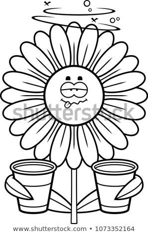 酔っ デイジーチェーン 漫画 実例 見える 花 ストックフォト © cthoman