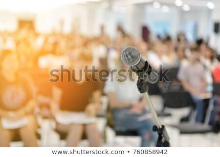 Bulanıklık insanlar basın toplantısı olay soyut kurumsal Stok fotoğraf © smuay