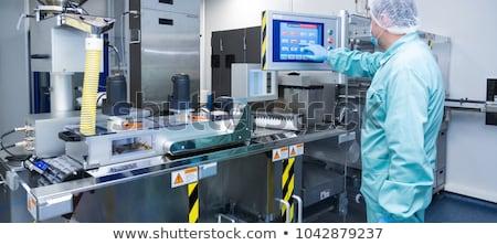 ストックフォト: 薬局 · 業界 · 工場 · 男 · ワーカー · 服