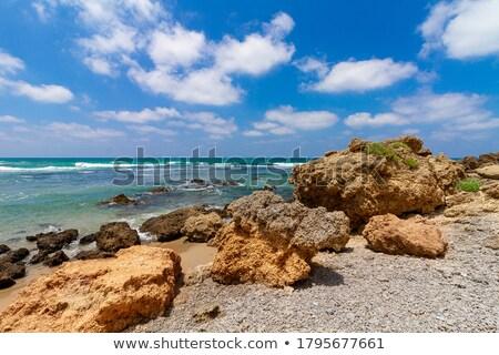 Bom ondas mediterrânico oceano água paisagem Foto stock © digoarpi